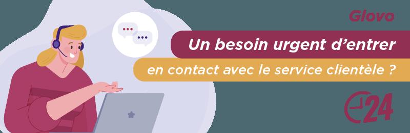 Service relation client Glovo