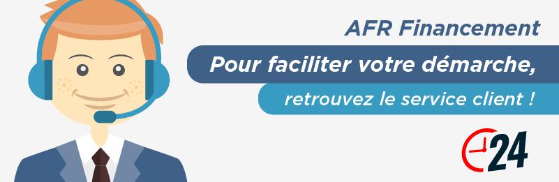 Service relation client AFR Financement
