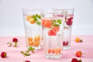 Cristaline au jus de fruits